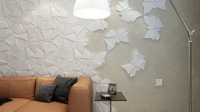 Чем декорировать стену прямо на обои?